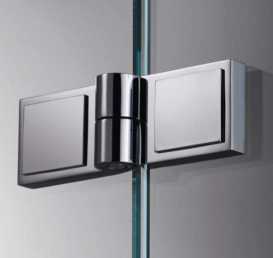 Douchedeurscharnier Plan square 180° glas-glas links