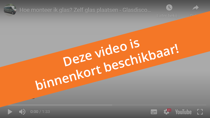 Glasdiscount raam monteren video