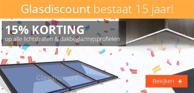 Glasdiscount 15 jaar!